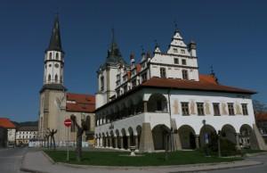 Lőcse főtere, régi városháza